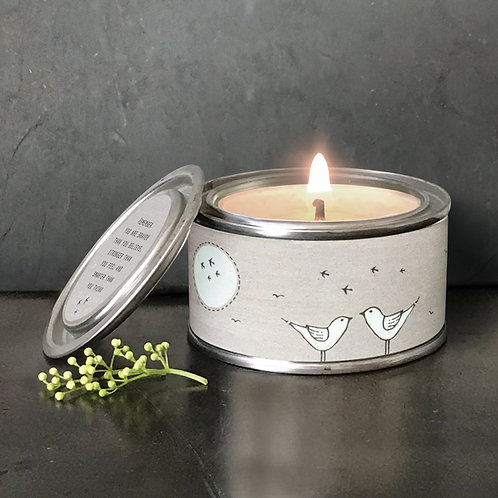 scented tinned candle by east of india