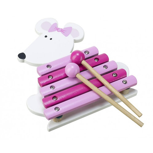 Pink Mouse Xylophone musical toy