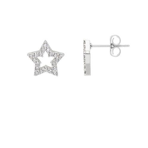 cubic zircona star earrings from estella bartlett