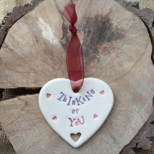 sentiment ceramic thinking of you