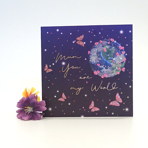 you are my world mothers day card by belly button
