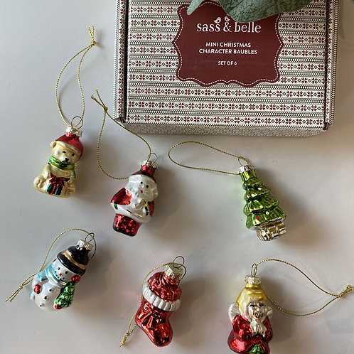sass and belle glass baubles