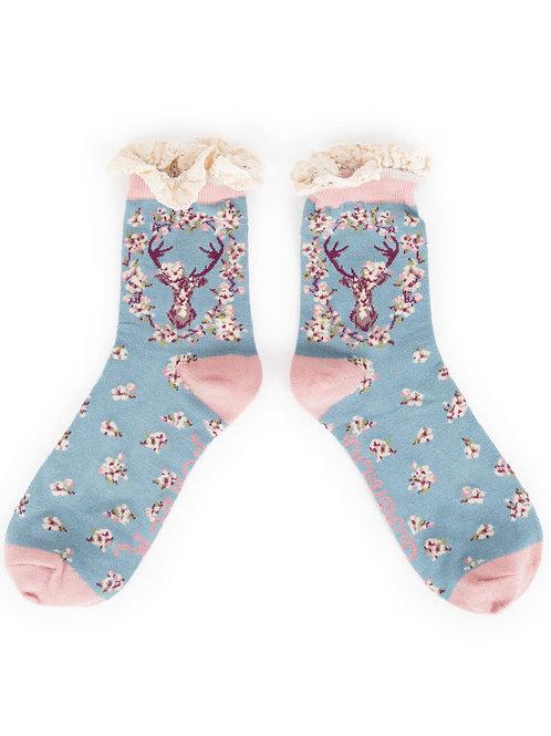 Powder Design StagAnkle Socks Ice