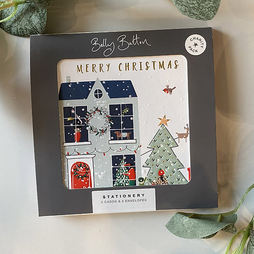 House Design Xmas card set by Belly Button
