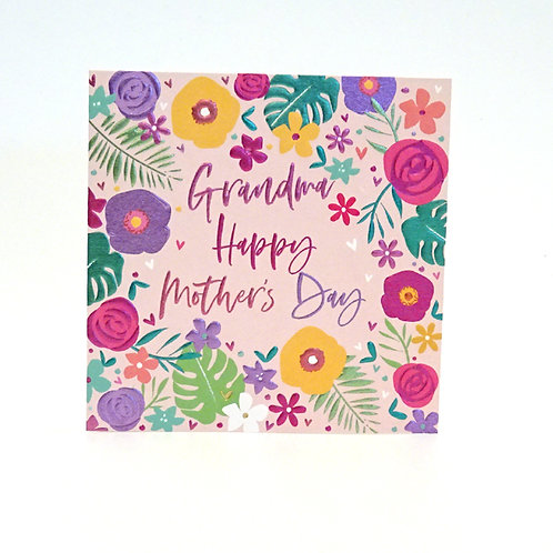 Grandma's Mothers day card by belly button
