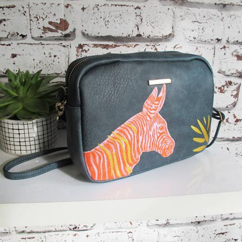zebra design shoulder bag