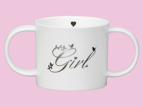 Repeat Repeat Precious Two Handled Christening Mug Girl