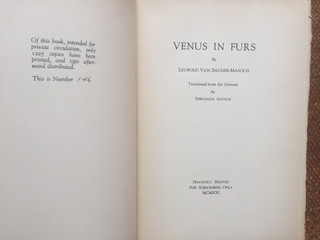 Venus in Furs by Sacher-Masoch