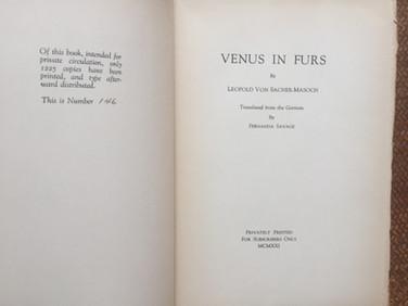 Venus in Furs by Sacher-Masoch