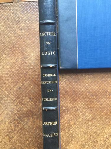 Lecture on Logic by Arthur Machen