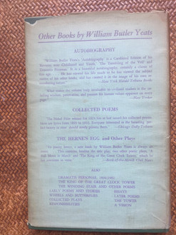 Last Poems and Plays by W. B. Yeats - 1940
