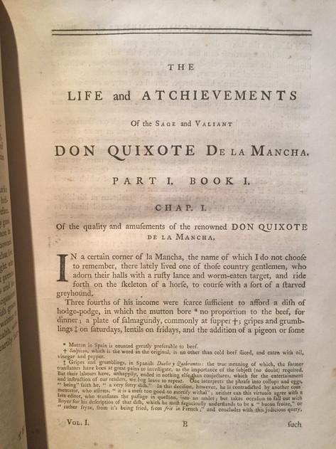 Cervantes Don Quixote 1755