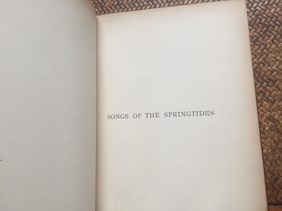 Songs of Springtides-Swinburne (w MSS.)