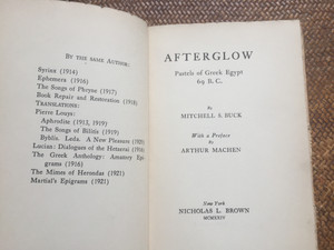Afterglow By M.S. Buck 1924