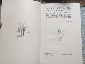 When We Were Young by A.A. Milne, signed by author