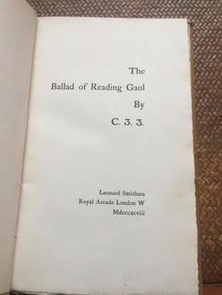 Oscar Wilde - Ballad of Reading Gaol 1898