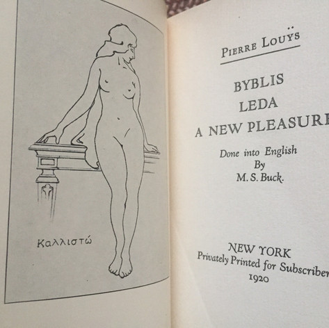 Byblis Ledaby, a New Pleasure Pierre Louys