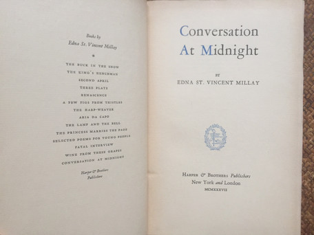 Conversation At Midnight by Edna St. Vincent Millay