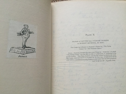 Origin of the Pickwick Papers by Mrs. Seymour,