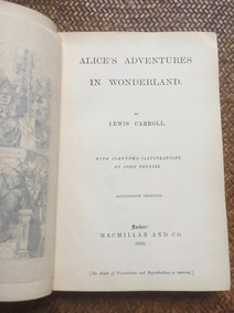 Alice's Adventures in Wonderland by Lewis Carroll (signed)- 1869