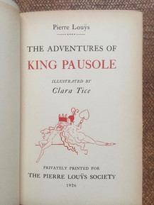 Adventures of King Pausole-Pierre Louys