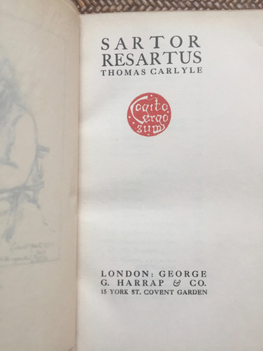 Sator Resartus, The Life and Times of Herr Teufelsdrockh by Thomas Carlyle