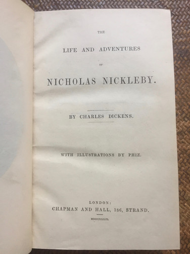 Nicholas Nickleby by Charles Dickens 1889 Illustrations by Phiz.