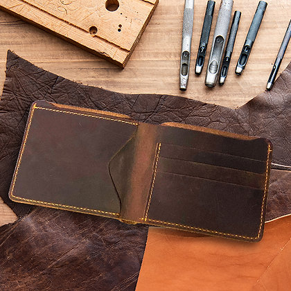 Leather Hand Stitched Wallet