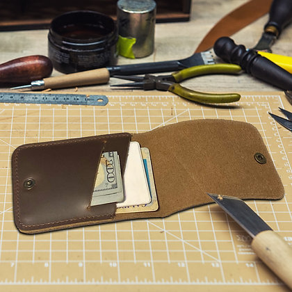 Leather Hand Stitched Business Card Holder