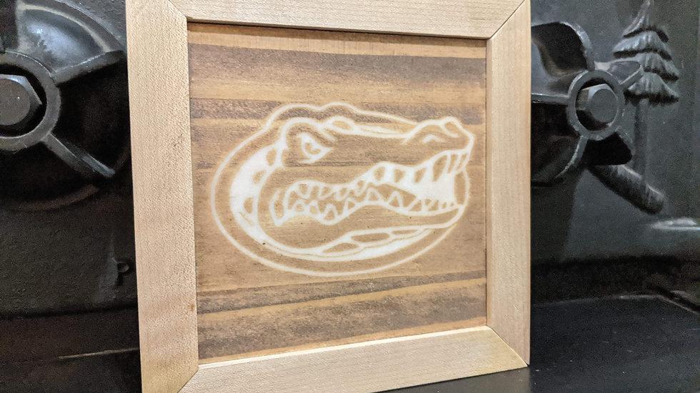 5x5 gator head wood art