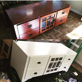 media storage refinish with paint