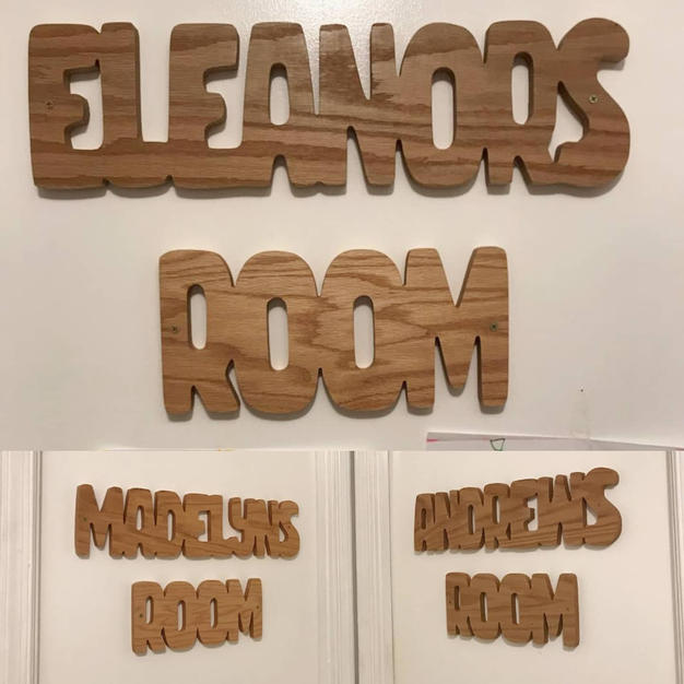 bedroom name signs