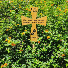 pet gravesite marker