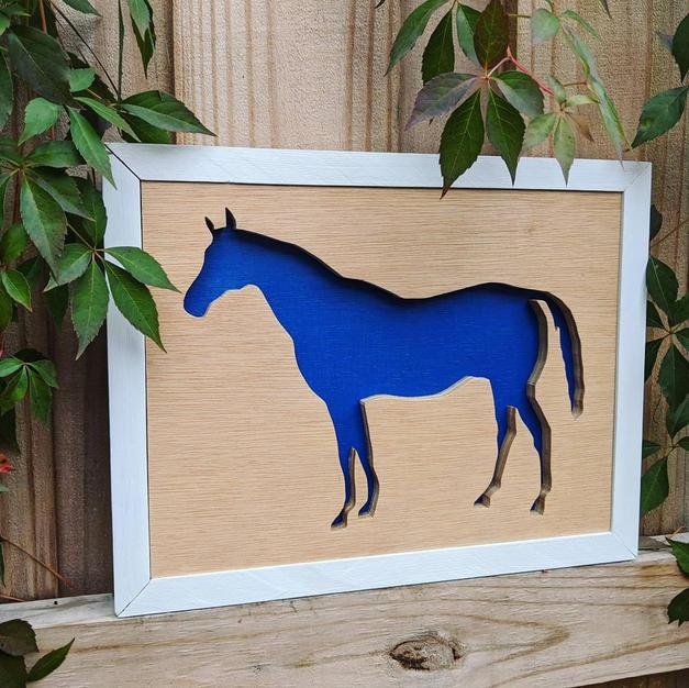 framed 2 layer wood art