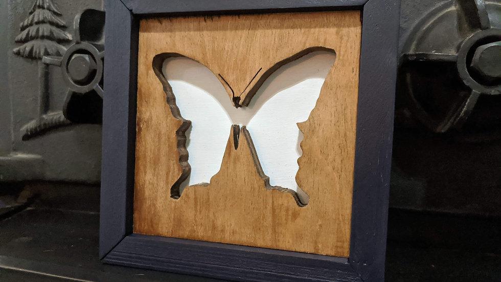 5x5 butterfly wood art