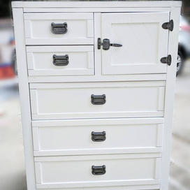 dresser and hardware refinish with paint