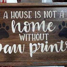Paw Prints Sign