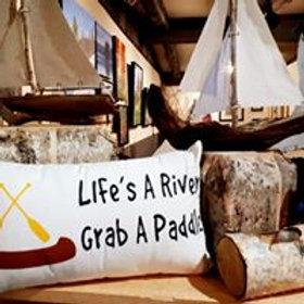 Life's a River Pillow