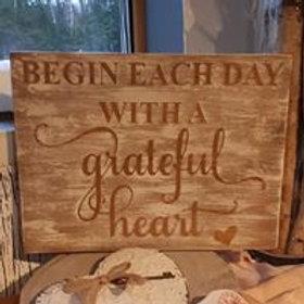 Grateful Heart Sign