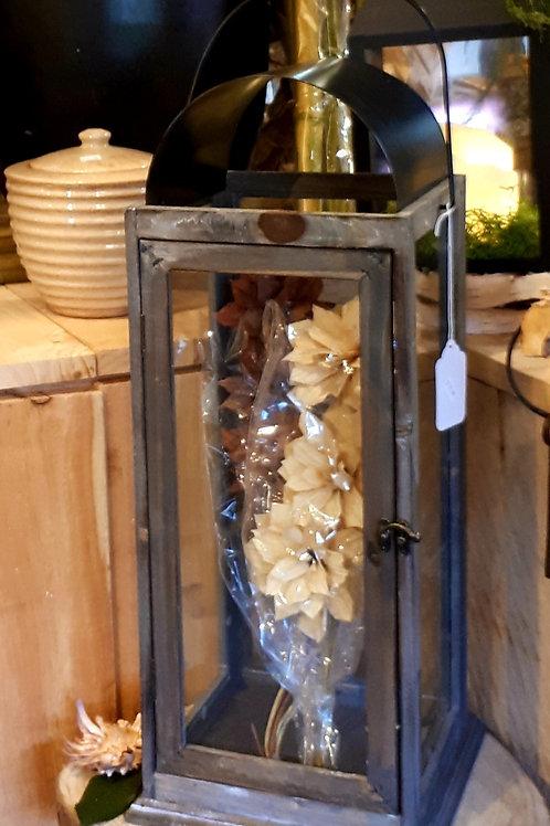 Lrg Wood Lantern