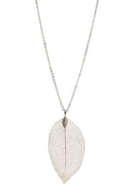 Mesh Leaf Pendant