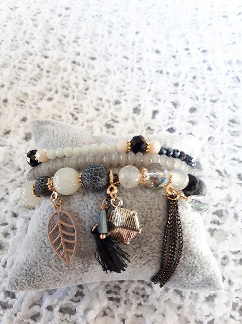 Grey Strand Bracelet