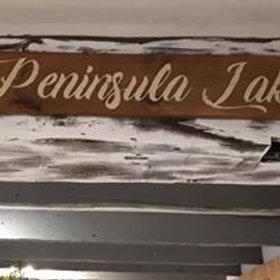 Peninsula Lake Sign