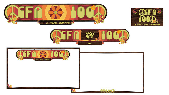CFA 100 Theme Graphics