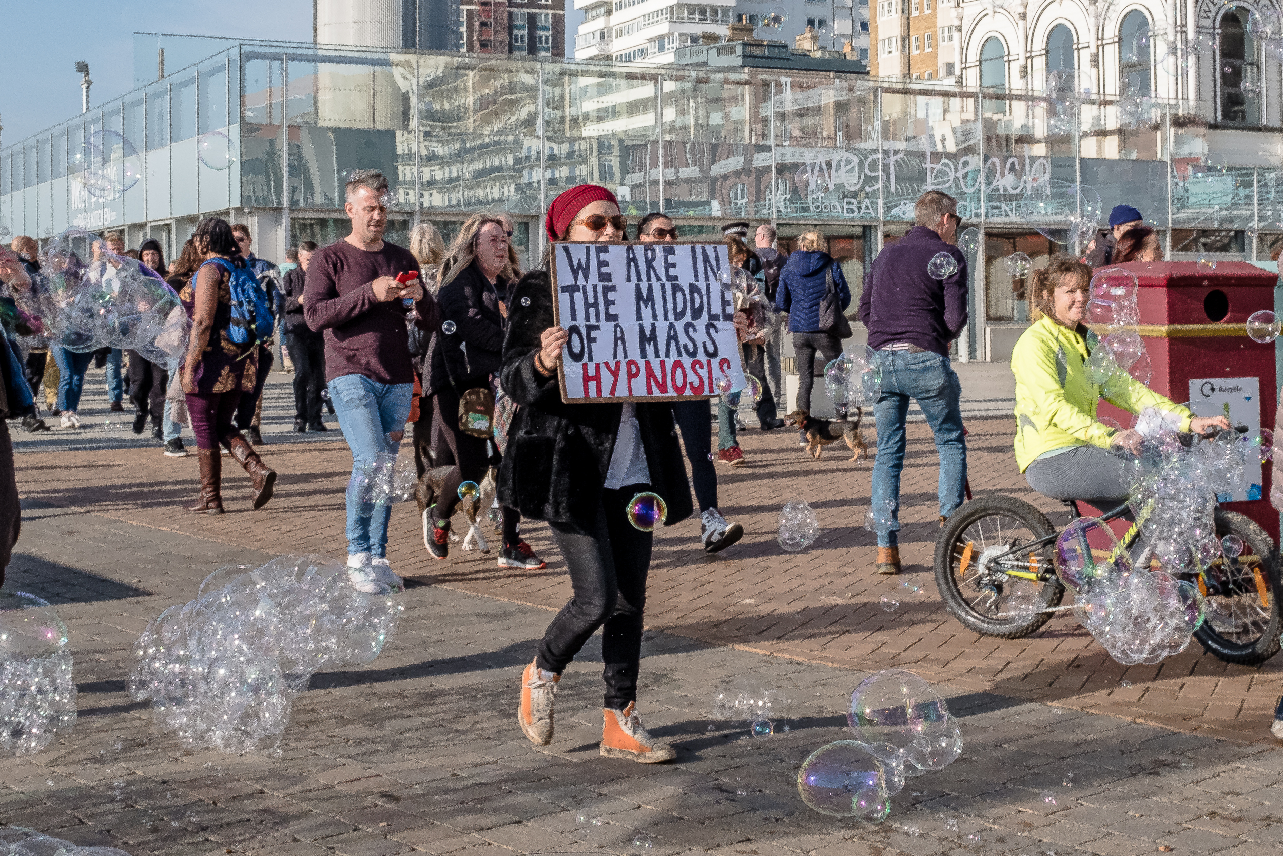 Protests Brighton seafront