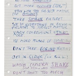 My Own Tony Ray Jones Notebook