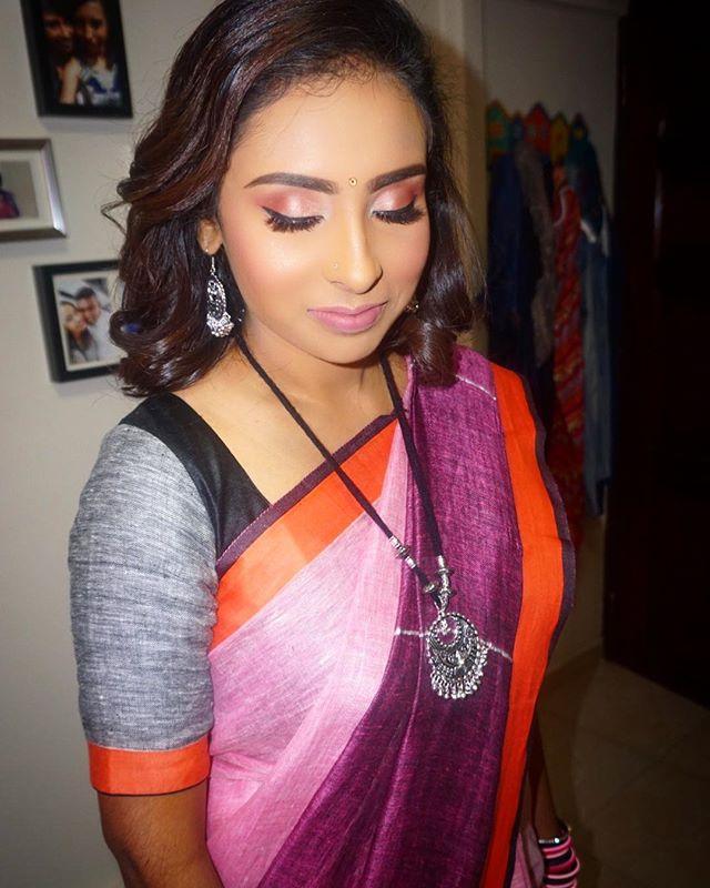_sri_devi22 _Sri Devi is wearing a linen saree which she got in Kerala