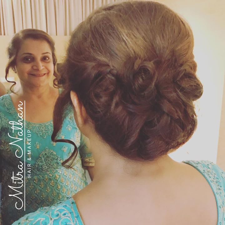 Requested hairstyling for bride's Mom