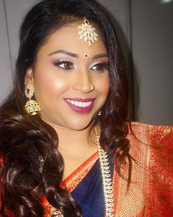 Hair & Makeup by yours truly for the extremely gorgeous _lalitha_brian _Follow my Instagram for more