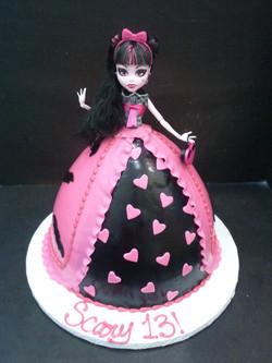 Monster High Barbie Cake